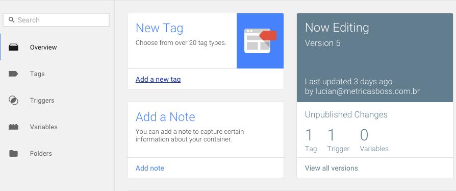 Como instalar google-analytics via google-tag-manager - Passo 2